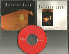 ROSANNE CASH Seventh Avenue PROMO DJ CD single 1993 USA w/ PRINTED LYRICS MINT