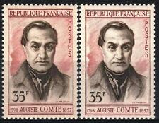 """FRANCE STAMP TIMBRE 1121 """" AUGUSTE COMTE 35F VARIETE COULEUR """" NEUF xx SUP  M357"""