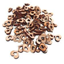 50 PZ in legno forma cuore Cavo pulsanti Vestiti Decorazione fai da te - 10MM