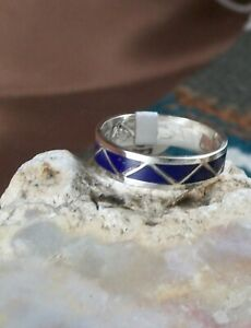 Lapis Inlay Ring, size 9