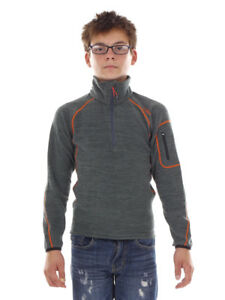 CMP Fleece Pullover Functional Sweater Top Grey Insulating Drying