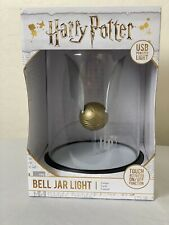 Official Harry Potter: Silence Is Golden Golden Snitch Bell Jar Light Touch Lamp