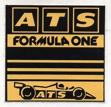 Adesivo ATS FORMULA ONE 1 F1 sticker anni 80 - 14 cm HS1 BMW Ford