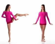 Shake Contemporary Ballet Dance Costume Pink over Red Adult Small