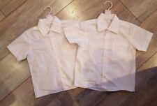 2 x  New white boys school shirts 4 -5 years
