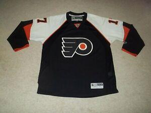 Reebok sewn Jeff Carter Philadelphia Flyers Black Adult Men's XL CCM Jersey