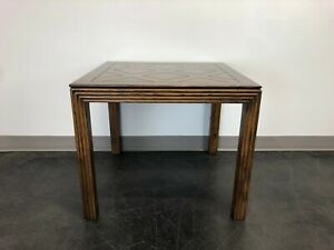HENREDON Artefacts Campaign Style Square Accent Table