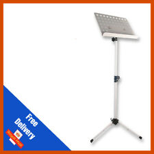Pulse Heavy Duty Orchestral Lectern Conductor Sheet Music Stand Tripod Base Whit