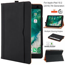 """Case For Apple iPad 10.2"""" 8th,7th Generation Genuine Leather Stand Smart Cover"""
