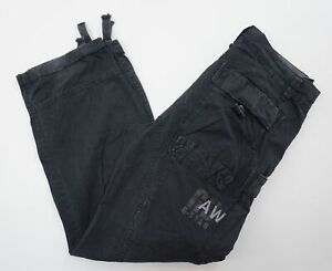 G-Star Cargo Jeans Rock South Belt Loose W32 L32 32/32 schwarz used Stoff E498