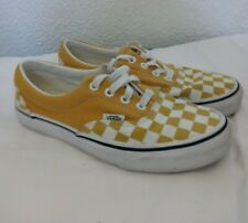 🔥 Rare Vans Shoes Checkered Mustard Yellow White Laces Men's 4.5 Women's Size 6