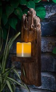 WOODLAND WALL SCONCE GARDEN LANTERN PATIO LIGHT LED OUTDOOR 40CM LARGE NEW