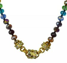 KIRKS FOLLY RAINBOW MEMORIES BEADED MAGNETIC INTERCHANGEABLE NECKLACE GOLDTONE