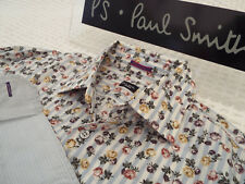 """PAUL SMITH Mens Shirt 🌍 Size 15.5"""" (CHEST 40"""") 🌎RRP £95+📮FLORAL STYLE STRIPES"""