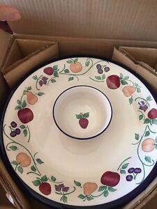 Princess House Orchard Medley #272 Chip & Dip New in Box