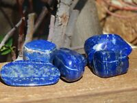 2 x Large A Grade Lapis Lazuli Crystal Polished Tumble Stones - Omni New Age