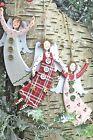 Gisela Graham Christmas Wood New England Folk Fairy Angel Decoration
