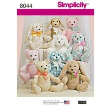 Simplicity Sewing Patterns 8044 Soft Toy Two Pattern Piece Stuffed Animals