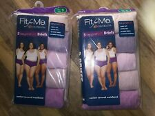 Lot of 2 Fit For Me Beyond Soft Fruit of the Loom 5 Pack Panties Size 9 Assorted