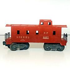 Lionel S P Caboose Red # 6257 Plastic Train Car C-40-1 Built 9-47 Railroad 1940s