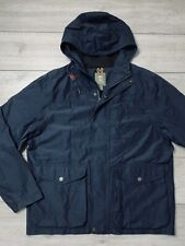 Mens TIMBERLAND Waterproof Hooded Parka Outdoor Hiking Jacket Size XL | Navy
