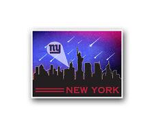 "New York Giants Poster City Skyline Art Print Man Cave Decor 12x16"""