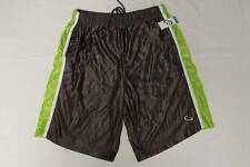NEW Mens Athletic Shorts XL Silky Basketball Workout Gym Running Gray Green