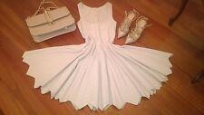 $3450+  Azzedine Alaia NUDE Mauve  Mantille Dress Size  It 42 US S-M