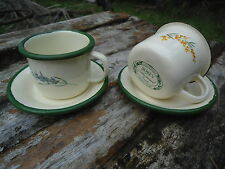 LOT DE 2 TASSES EXPRESSO EMAILLEES  PROVENCE EMAIL VERITABLE FAB. FRANCE NEUF
