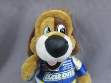 AARONS RENTS PLUSH LUCKY DOG NASCAR RACING MASCOT STUFFED ANIMAL TOY PUPPY