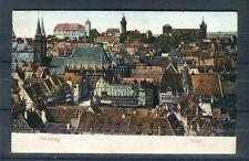 Schöne Prägedruck Karte Nürnberg Totalansicht