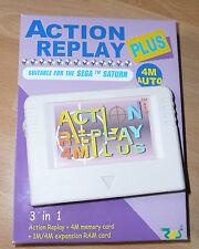 WHITE version Sega Saturn ACTION REPLAY PLUS 4M New TESTED memory card 1/4 RAM