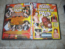 3 PW Wrestling DVD englisch Insane and ready for Pain WWF WWE WCW ECW TNA ROH
