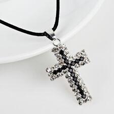 Kreuz Modeschmuck-Halsketten & -Anhänger mit Strass-Kreuz