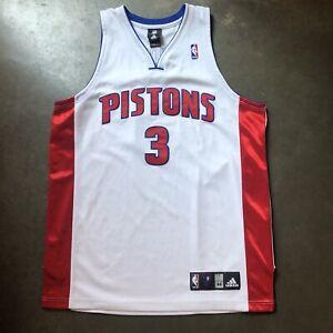 Men's Vintage Adidas Authentic Detroit Pistons Rodney Stuckey White Jersey Sz 44