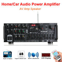2 Channel Audio Power Bluetooth Amplifier Home Car Stere USB HiFi with Control