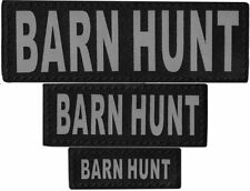 BARN HUNT  Patch Reflective Extra Label Tag for Dog Harness Service