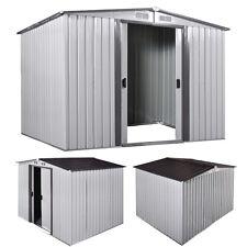 8' x 8' Outdoor Storage Shed Box Steel Utility Tool Backyard Garden Lawn Garage