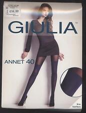 NEUF COLLANT FANTAISIE GIULIA ANNET 40 DEN TAILLE 4 = L BLEU NAVY LINE FASHION