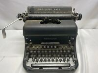Remington Rand Model Vintage Portable Manual Typewriter, Black