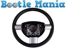 Beetle 98-2010 Convert 03-2010 Steering Wheel Black Silver Spokes 1C0419091BD