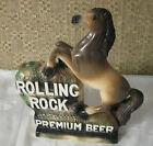 Rolling Rock Premium Beer Horse Chalkware Advertising Counter Bar Sign Silvestri