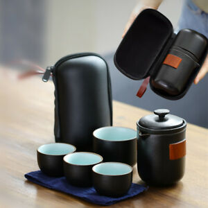 portable tea set pitcher filter cup with bag Chinese ceramic tea set for travel