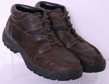 Timberland 91052 Brown Moc Toe Leather Lace-Up Ankle Boots shoes Men's US 12M