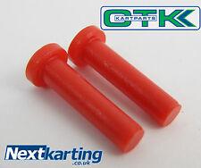 TonyKart / OTK Side Pod Bar Red Plastic Bolts X2 EVR EVK 401 NextKarting