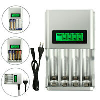 Batterie Aufladegerät Battery Charger LCD Akku Ladegerät AA AAA Schnelladegerät