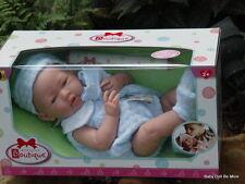 Berenguer *  18054 * La Newborn Real Boy 15 Inch Doll Blue Knit Blanket Gift Set