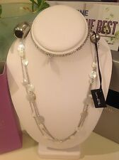 BREIL MILANO White Mother Of Pearl Bloom Necklace, Authentic! New In Box!