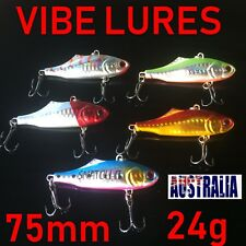 5 Vibe Fishing Lures Bream Flathead Barra Cod Jacks Redfin  Tackle Vibe Lure