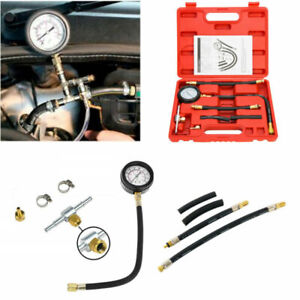 0-100 PSI Car Truck Fuel Injection Pump Pressure Injector Tester Test Gauge Kit